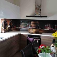 foto vaizdas virtuves stiklui